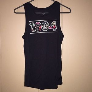 ON Active tank floral 1994 workout exercise top